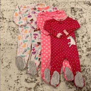 BUNDLE! 4 Carter's Sleepers (3 Fleece, 1 Cotton)